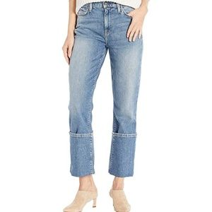 Nwt Hudson holly high rise straight jeans